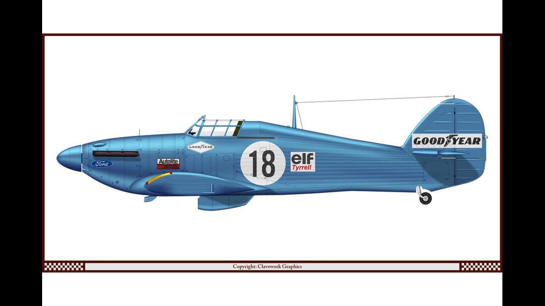 Hawker Hurricane - Tyrrell - Racing-Planes - 2015