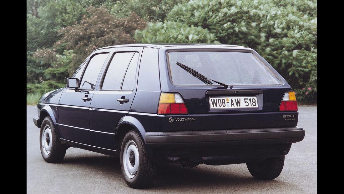Heckansicht VW Golf II