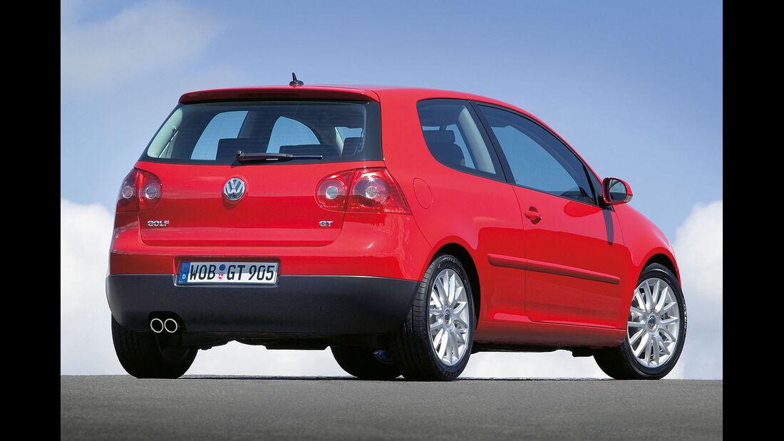 Heckansicht VW Golf V