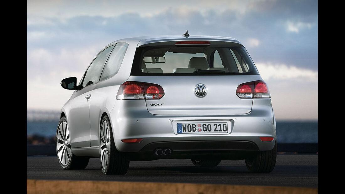 Heckansicht VW Golf VI