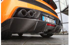 Heckdiffusor und Auspuffendrohre am Lamborghini Gallardo LP 570-4 Superleggera