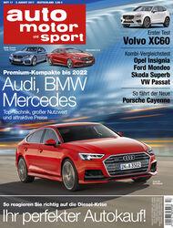 Heft - Cover - auto motor und sport 17/2017