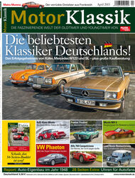 Heftinhalt Motor Klassik 04/2015
