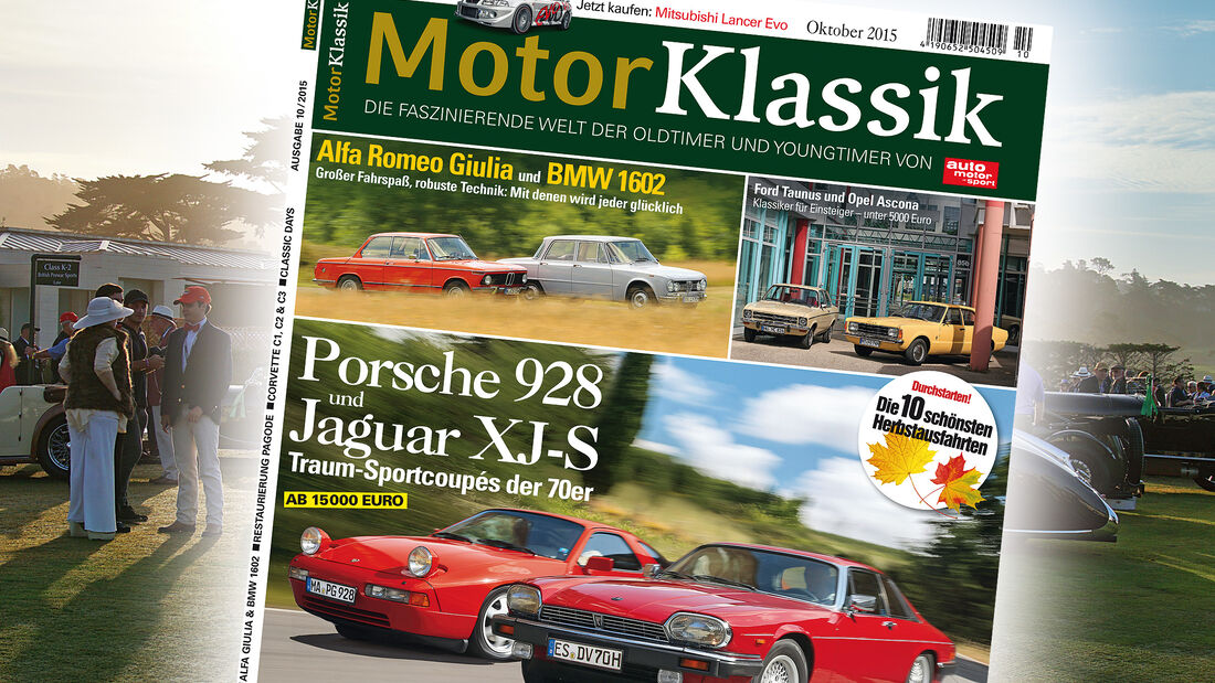 Heftinhalt Motor Klassik 10/2015