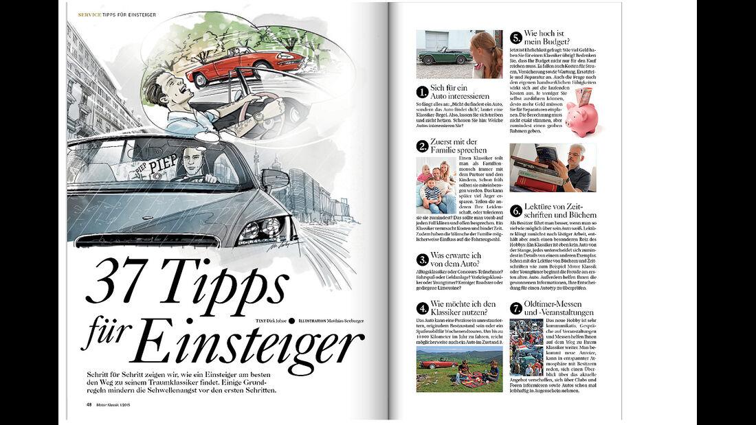 Heftvorschau Motor Klassik 01/2015