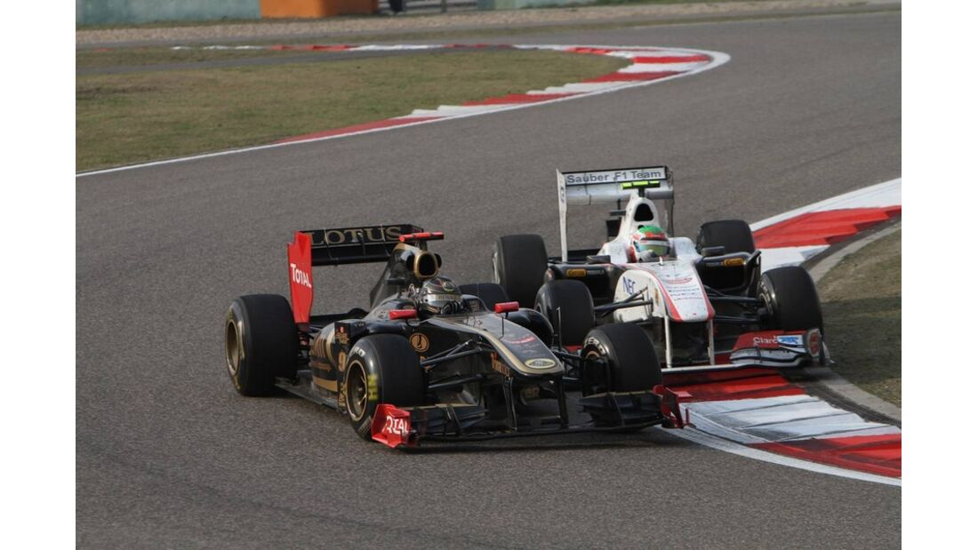 Heidfeld Perez Formel 1 GP China 2011
