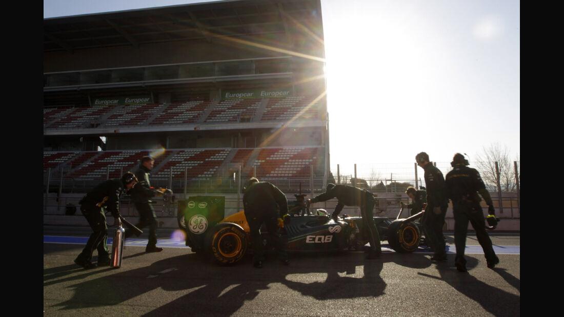 Heikki Kovalainen - F1-Test - Barcelona 2012