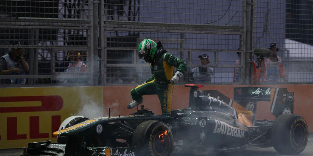 Heikki Kovalainen GP Singapur 2011