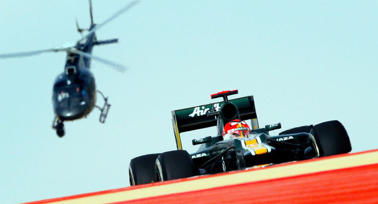 Heikki Kovalainen Helikopter GP Bahrain 2012