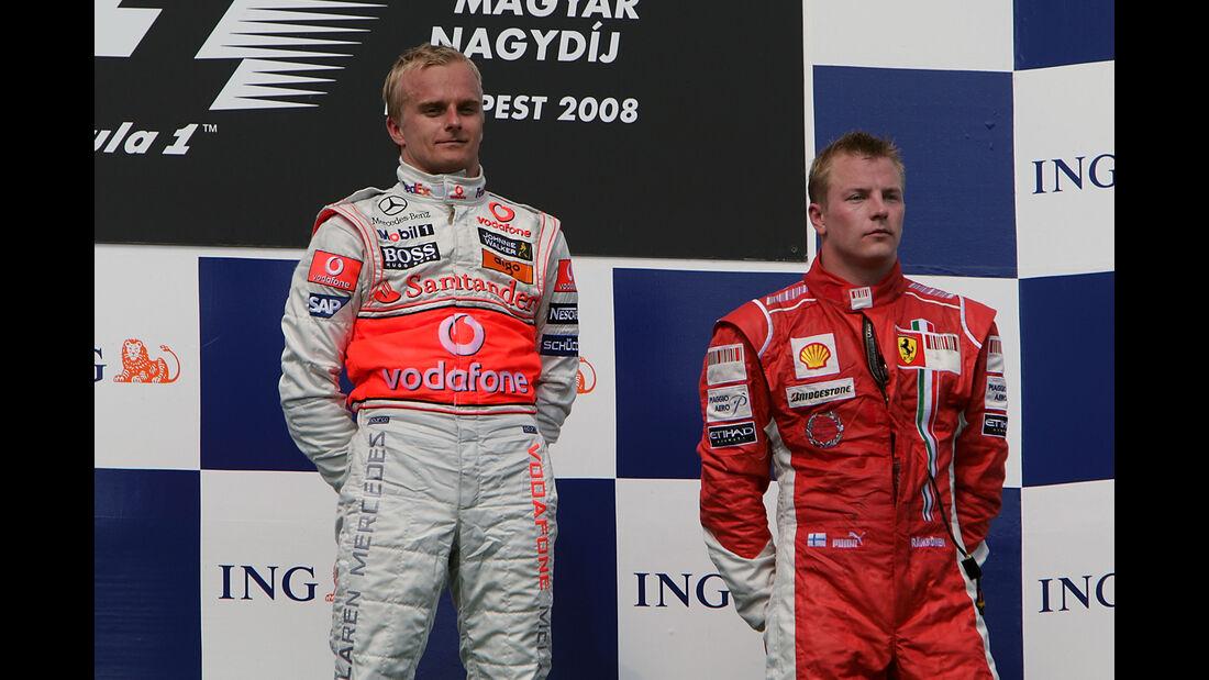 Heikki Kovalainen & Kimi Räikkönen - GP Ungarn 2008