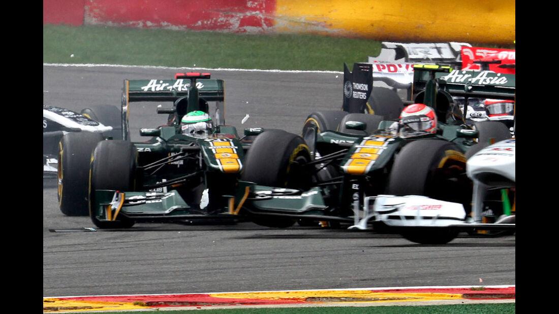 Heikki Kovalainen Rennen GP Belgien 2011