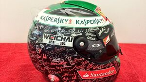 Helm - Fernando Alonso - Formel 1 - GP Abu Dhabi - 20. November 2014
