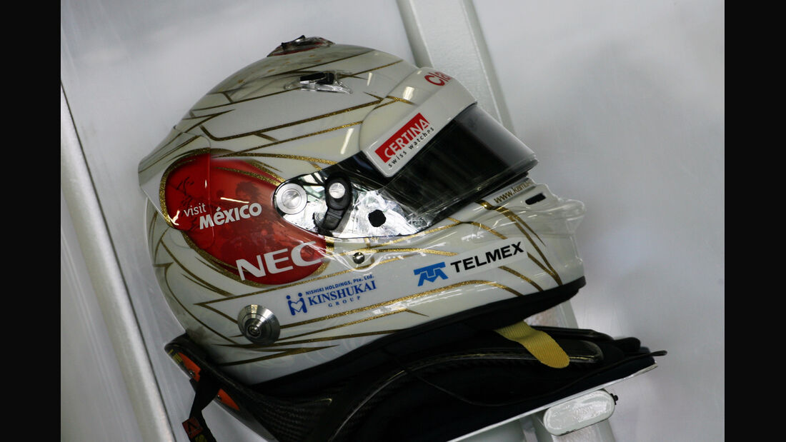 Helm - Kamui Kobayashi - Formel 1 - GP Japan - Suzuka - 5. Oktober 2012