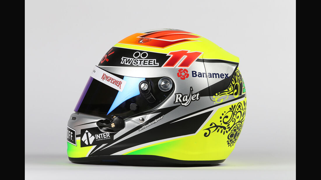 Helm - Sergio Perez - Force India - 2015