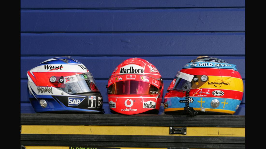 Helme Schumacher Räikkönen Alonso 2005