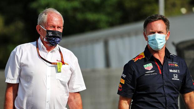 Helmut Marko - Christian Horner - Red Bull - GP Spanien 2020 - Barcelona