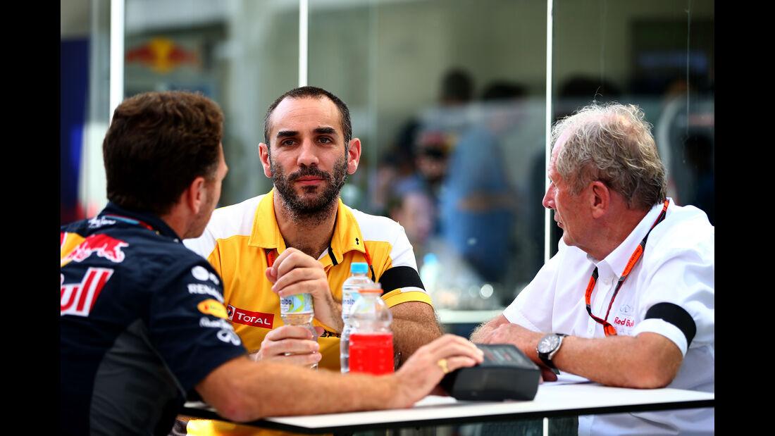 Helmut Marko - Cyril Abiteboul - Formel 1 - GP Brasilien- 14. November 2015