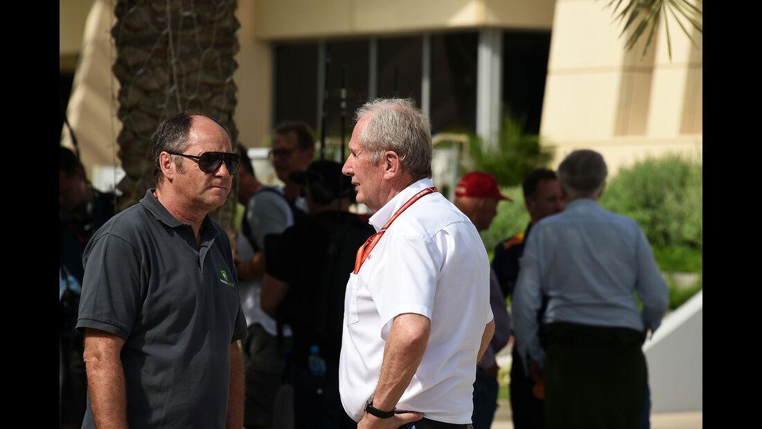 Helmut Marko - Gerhard Berger - GP Bahrain 2017 - Qualifying