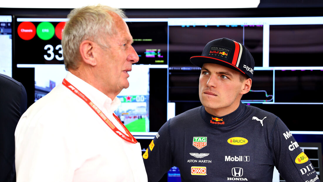Helmut Marko & Max Verstappen - GP Mexiko 2019