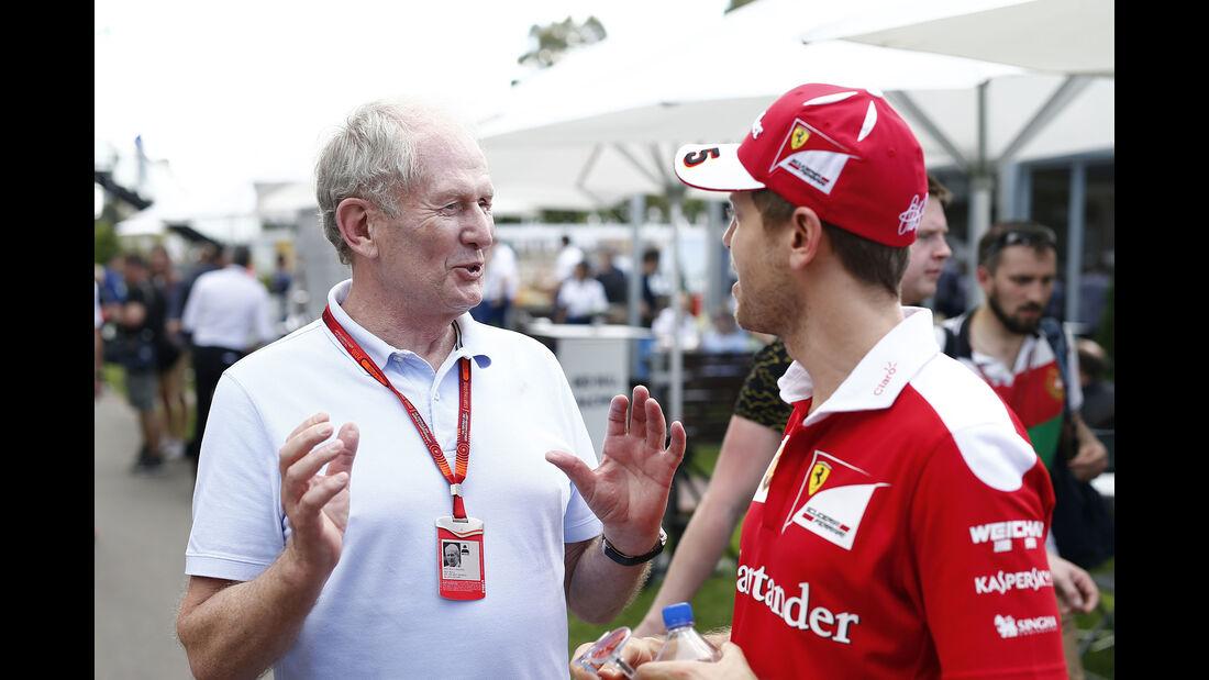 Helmut Marko & Sebastian Vettel - F1 2016