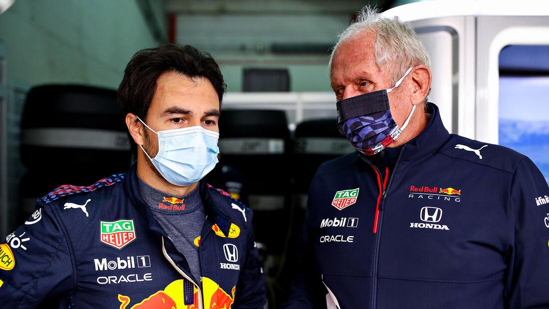 Helmut Marko & Sergio Perez - Red Bull - Formel 1 - Imola - GP Emilia Romagna - 16. April 2021