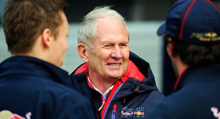 Helmut Marko mit Kvyat & Vergne - F1 2014
