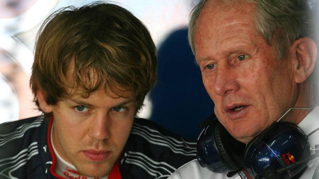 Helmut Marko und Sebastian Vettel