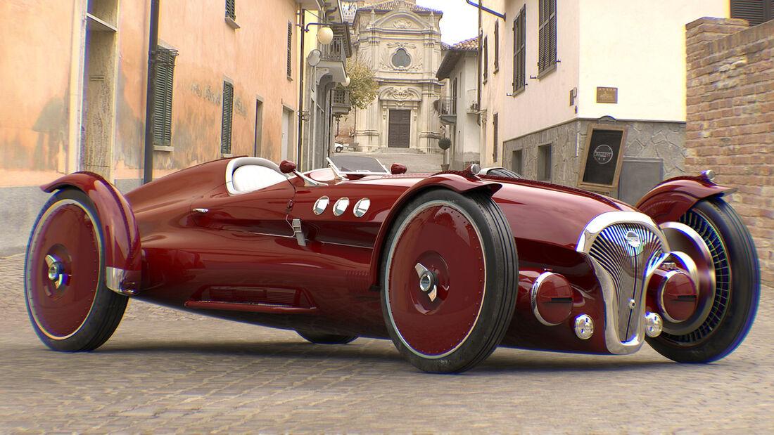 Helvezzia Tipo-6 Design Concept Elektro Roadster Classic