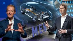 Herbert Diess Ola Källenius Collage Mercedes VW Jobverlust Elektromobilität