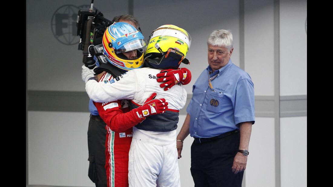 Herbie Blash, Fernando Alonso & Sergio Perez - GP Malaysia 2012