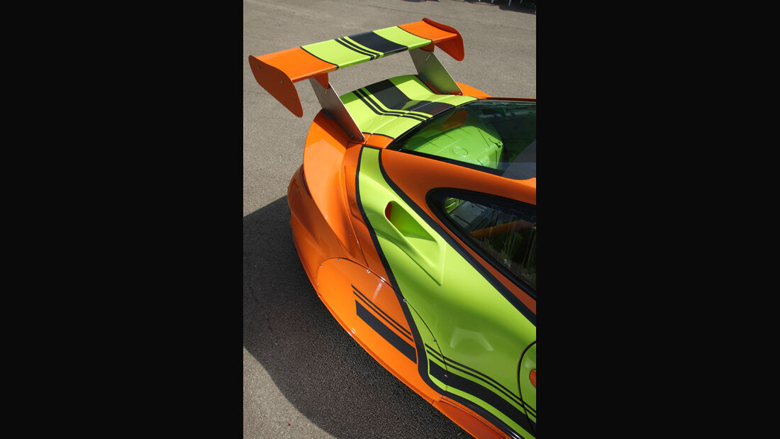 Highspeed-Test, Nardo, ams1511, 391km/h, 9ff Porsche 911 GT3, Heck, Detail, Spoiler