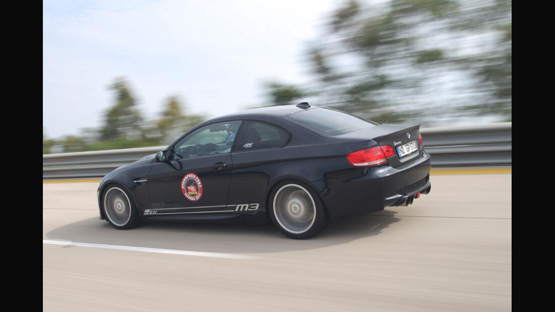Highspeed-Test, Nardo, ams1511, 391km/h, G-Power BMW M3, Rückansicht
