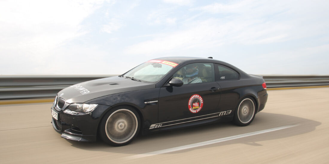 Highspeed-Test, Nardo, ams1511, 391km/h, G-Power BMW M3, Seitenansicht