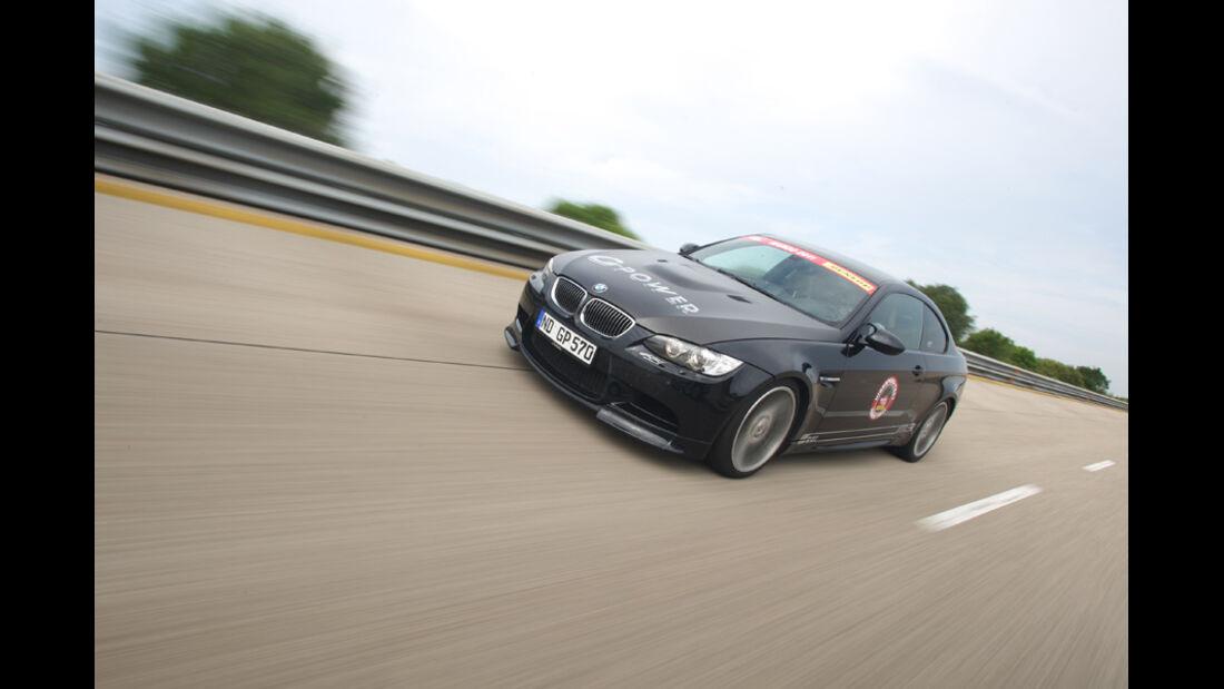 Highspeed-Test, Nardo, ams1511, 391km/h, G-Power BMW M3, Steilkurve, Frontansicht
