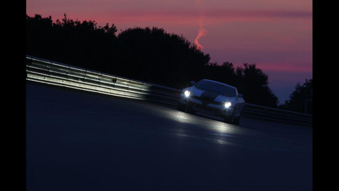 Highspeed-Test, Nardo, ams1511, 391km/h, MKB Mercedes SLR McLaren, Fronatansicht, Nacht