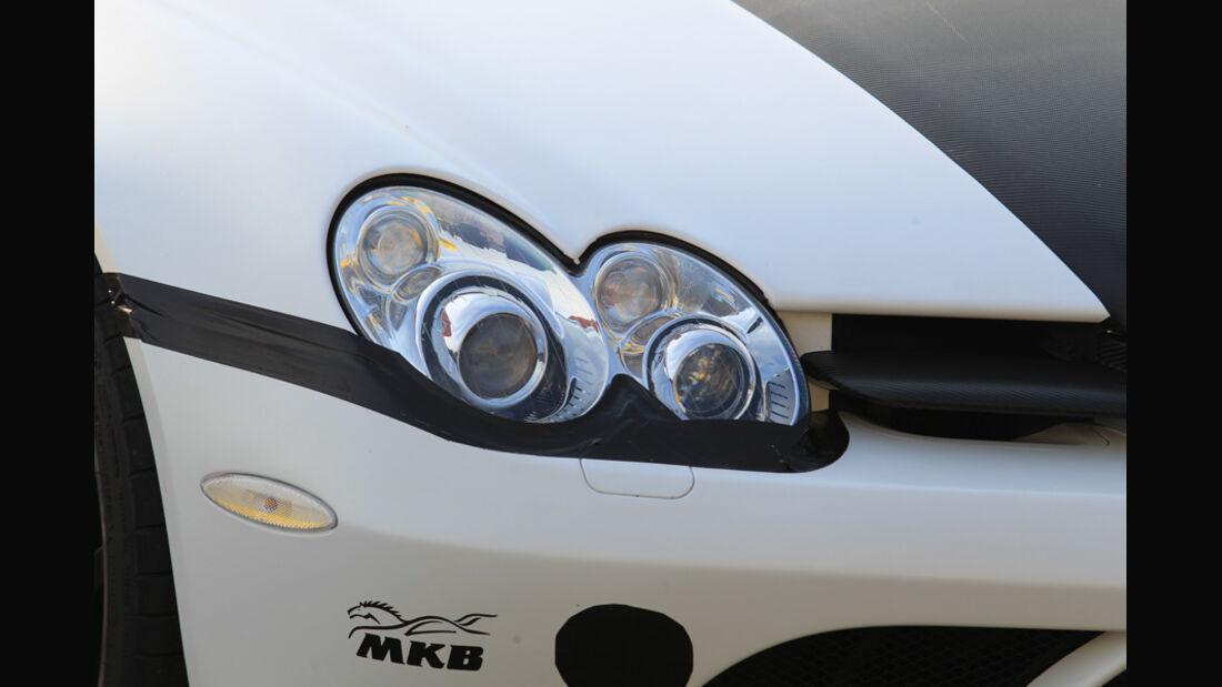 Highspeed-Test, Nardo, ams1511, 391km/h, MKB Mercedes SLR McLaren, Scheinwerfer, vorne