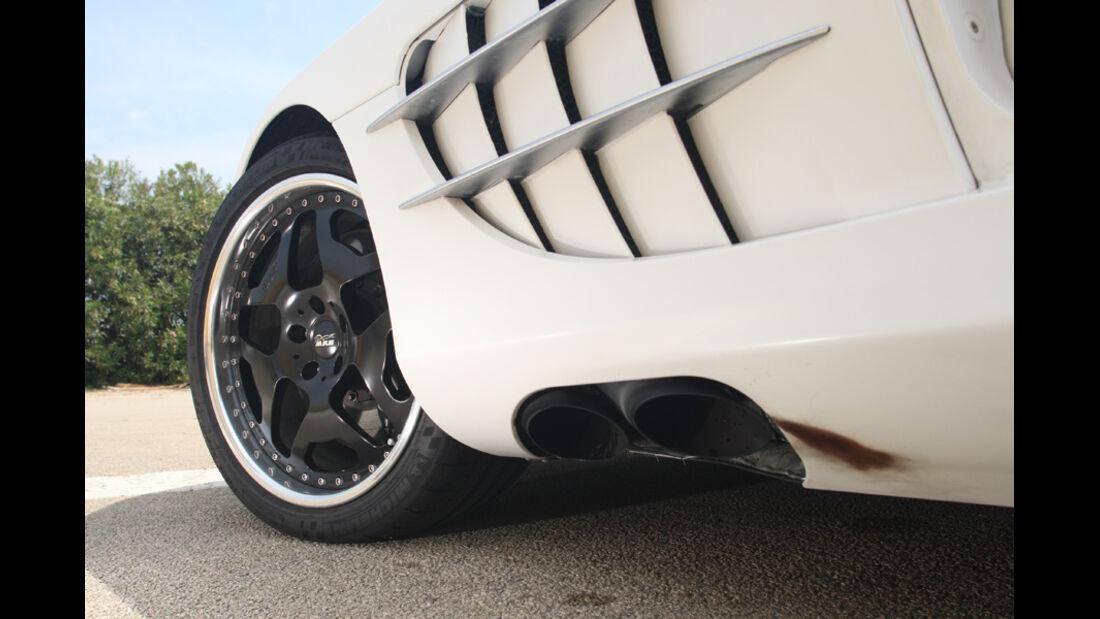Highspeed-Test, Nardo, ams1511, 391km/h, MKB Mercedes SLR McLaren, Vorderrad, Felge