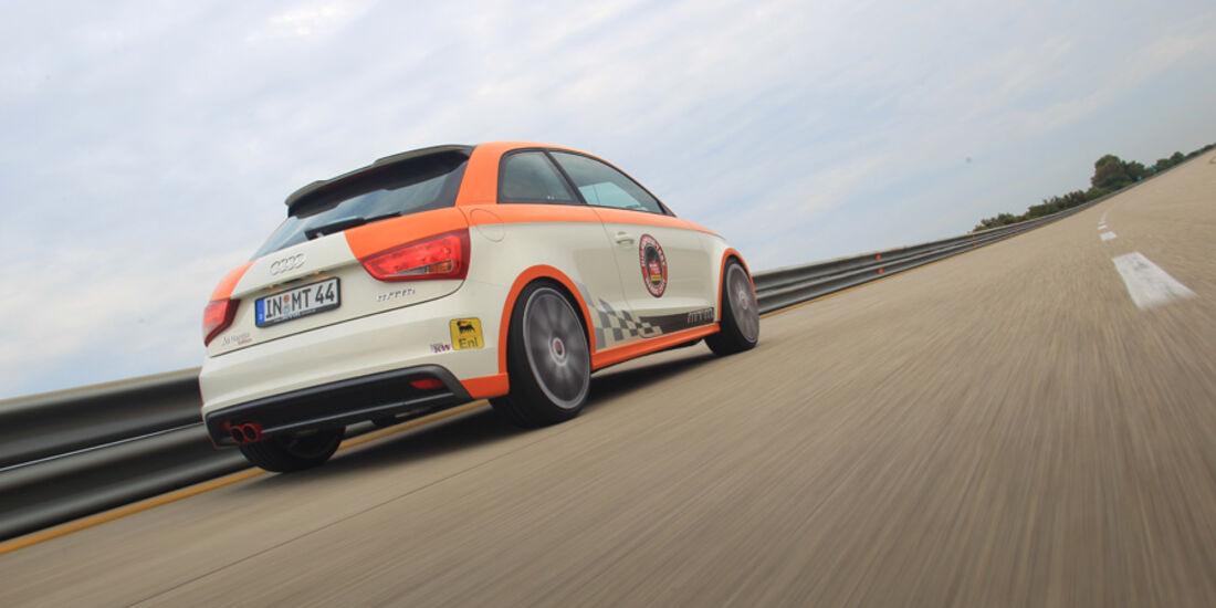 Highspeed-Test, Nardo, ams1511, 391km/h, MTM Audi A1, Heckansicht, Rückansicht