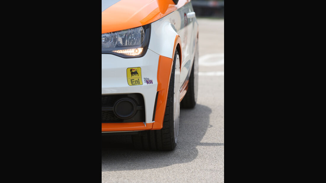Highspeed-Test, Nardo, ams1511, 391km/h, MTM Audi A1, Scheinwerfer, vorne
