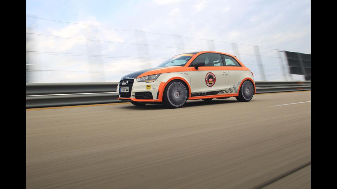 Highspeed-Test, Nardo, ams1511, 391km/h, MTM Audi A1, Seitenansicht