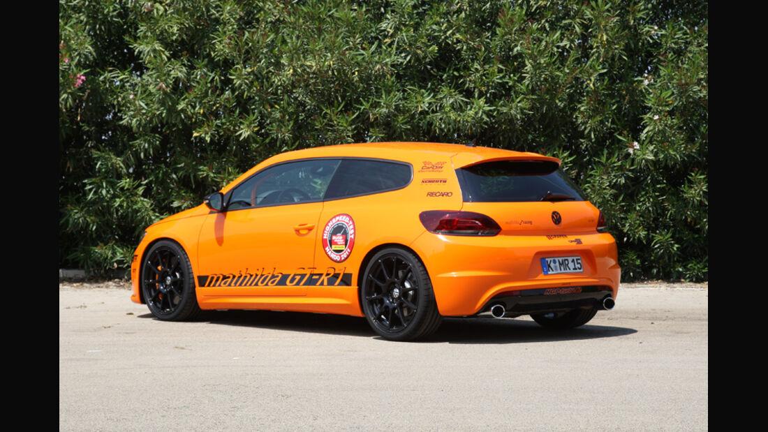 Highspeed-Test, Nardo, ams1511, 391km/h, Mathilda VW Scirocco R, Heck, Rückansicht