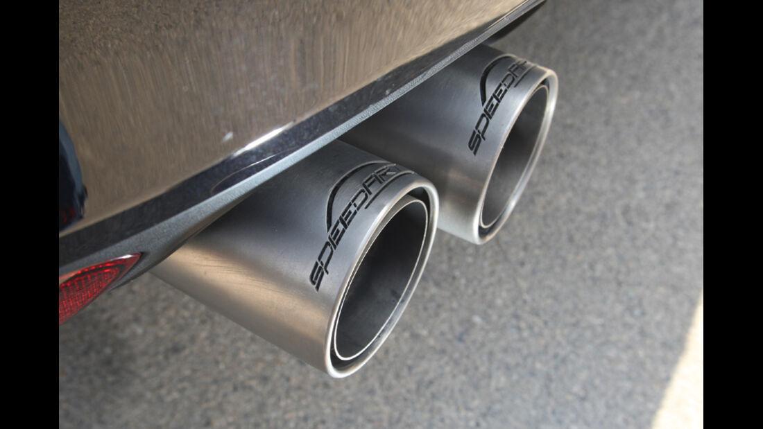Highspeed-Test, Nardo, ams1511, 391km/h, Speedart Porsche Cayenne Turbo, Auspuff