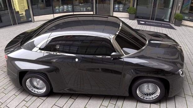 Hindustan Ambassador mit EV Concept DC2 Design