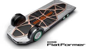 Hino Flatformer Elektro-Skateboard Nutzfahrzeuge