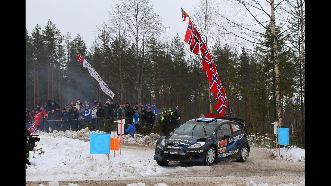 Hirvonen, Ford Fiesta WRC, Rallye Schweden 2014