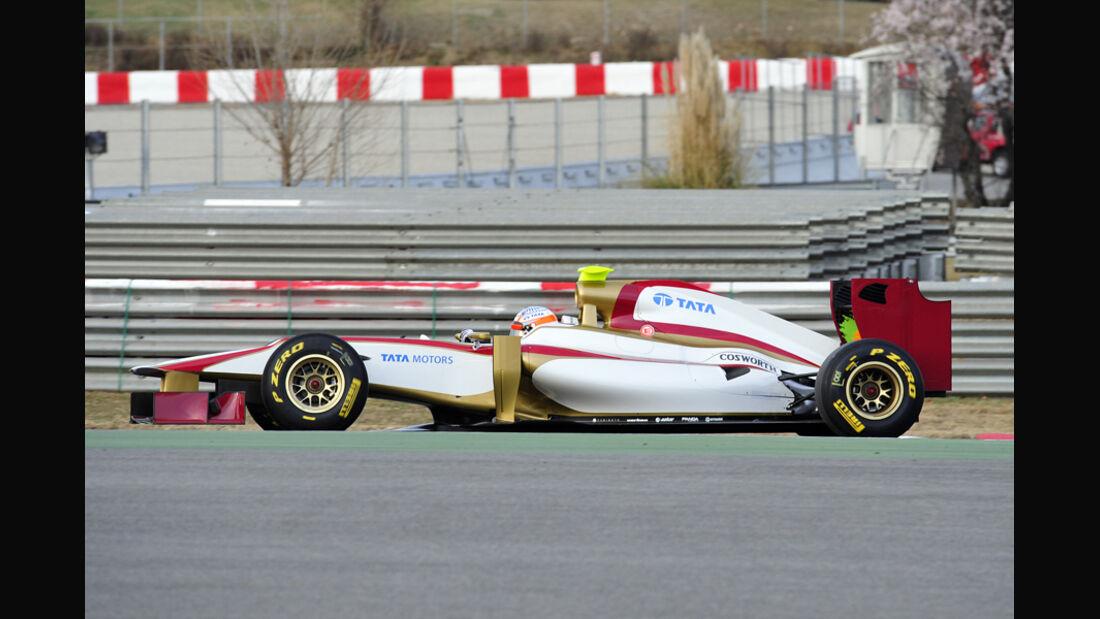 Hispania HRT F112 Barcelona Shakedown 2012