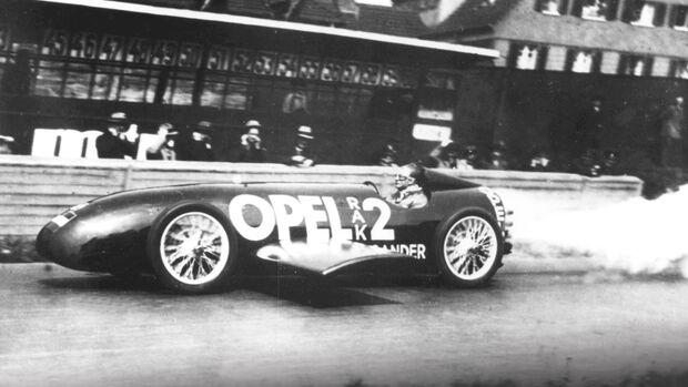 Historie Alternative Antriebe, Raketenwagen, 1927 Fritz von Opel