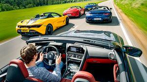 Hochleistungs-Cabrios von AMG, Aston Martin, BMW, McLaren, Porsche, Exterieur