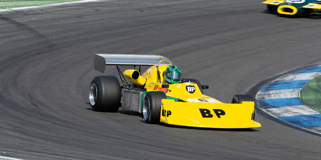 Hockenheim Historic, Stretton, March 742-Ford, Kurvenfahrt