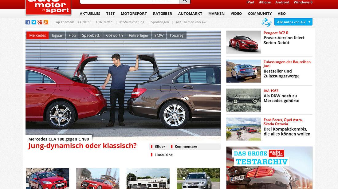 Homepage auto motor und sport